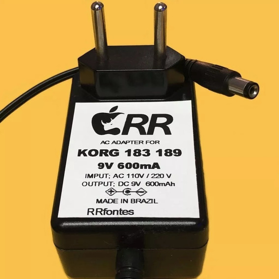 Fonte Carregador 9v Para Pedal Korg Electribe Gt3 Gt12 Gt120
