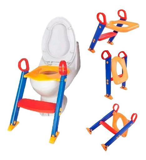Assento Redutor Infantil Com Escada Troninho Vaso Sanitário