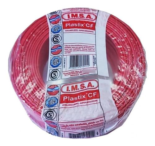 Imagen 1 de 3 de Cable Unipolar 2,5 Rollo 100 Metros Rojo Imsa Plastix Cf