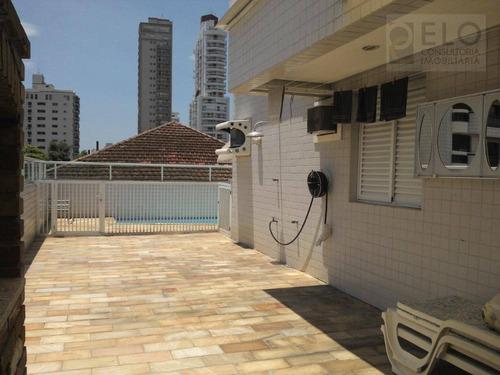 Apartamento Garden Com 3 Dormitórios À Venda, 113 M² Por R$ 1.000.000,00 - Gonzaga - Santos/sp - Gd0008
