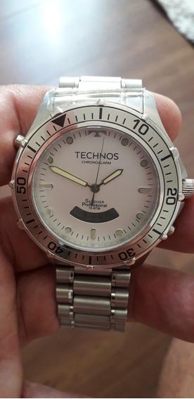 Relógio Technos Skydiver Grande, Caixa 48mm!! Usado