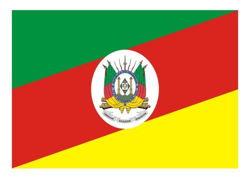 Bandeira Rio Grande Do Sul Rs 1,37x90cm Visível Dois Lados