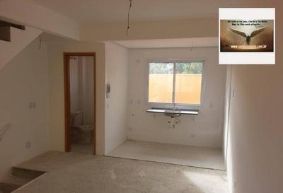 Sobrado Novo Com 02 Dormitórios , Sala , Cozinha Estilo Americana Residencial À Venda, Vila Falchi, Mauá. - So0105