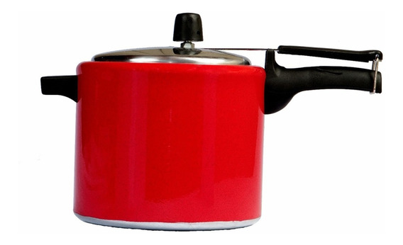 Panela De Pressão 4,5 Litros Alumínio Vermelho Forusi