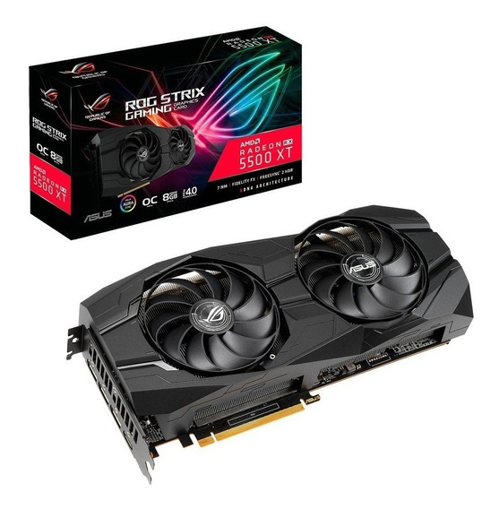 Placa de video AMD Asus Radeon RX 5500 Series RX 5500 XT ROG-STRIX-RX5500XT-O8G-GAMING OC Edition 8GB