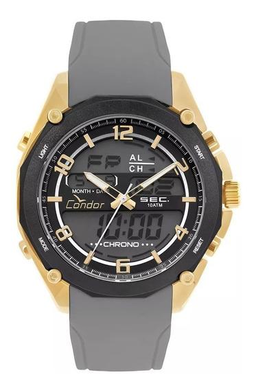 Relógio Condor Masculino Pulseira Cinza Garantia E Nf