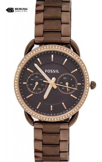 Relógio Fossil Feminino Tailor Marrom Es4258/4mn