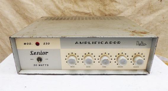 Amplificador Delta Valvulado Mod. Senior 230 - Valvulas El34