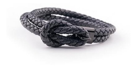 Pulsera De Piel Hugo All Black (negra)