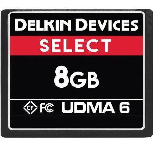 Cartão Compact Flash Cf Delkin 8gb Select Udma 75mb Com Nf-e