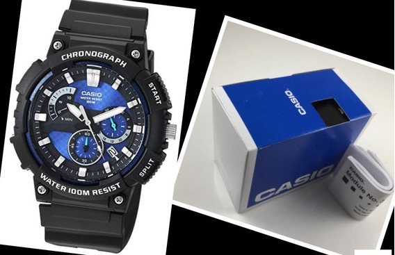 Relógio Masculino Casio 100m Cronógrafo Mcw200h-2av