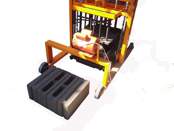 Maquina Bloquera Block Hueco Y Solido 12x20x40