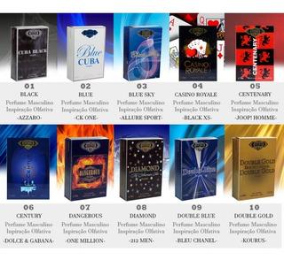 Kit 3 Perfume Cuba Revenda Escolha Sua Fragrância