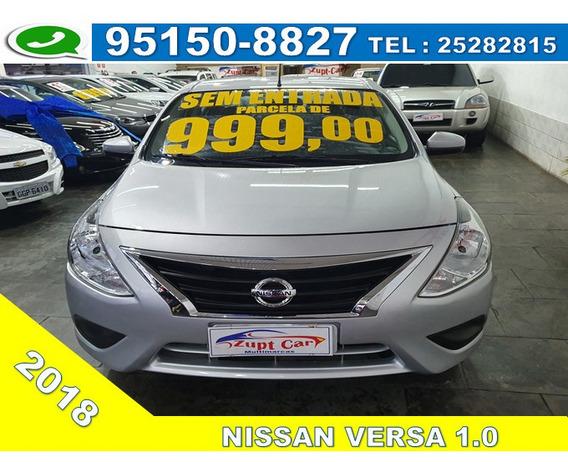 Nissan Versa Versa 1.0 Conforto / Score Baixo / Zero Entrada