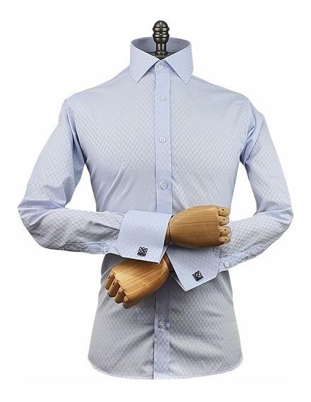 Camisa Punho Duplo Gola Italiana - ( Ref A 093 )