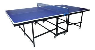 Mesa De Tenis Plegable Modelo Americano 15mm + Set Ping Pong