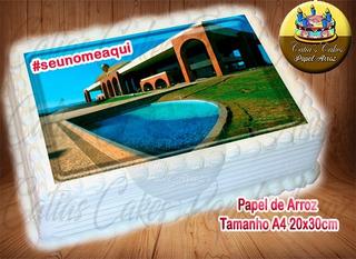 Palmas Tocantins Papel De Arroz Com Nome A4 20x30cm Capitais