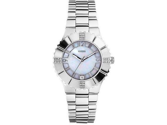 Relógio Feminino Guess De Madrepérola-g95469l Original Nf
