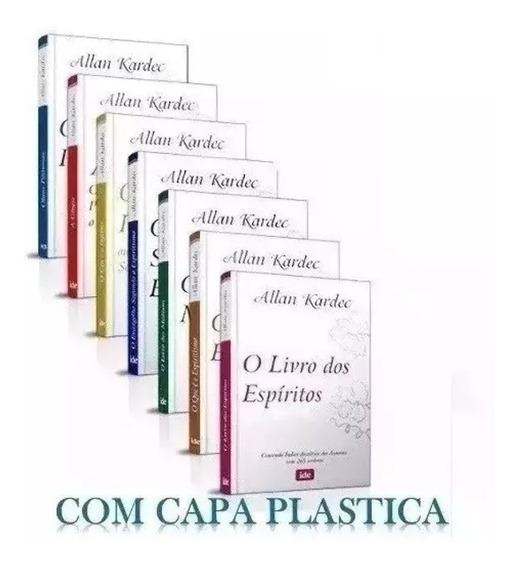 Livros Obras Basicas Coleção Com 7 Uds Allan Kardec Grande