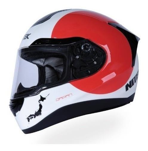Nitek P1 Full-faced Motocicleta Casco De La Calle (gráfico D