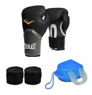 Kit Boxe Muay Thai Luva Everlast Bandagem 5 M Acessórios