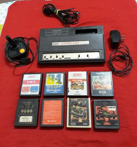 Atari Super Game Cce Modelo Vg-2800 Completo + 25 Jogos
