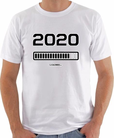 Camisa Camiseta Loading Feliz Ano Novo Reveillon 2020 Virad