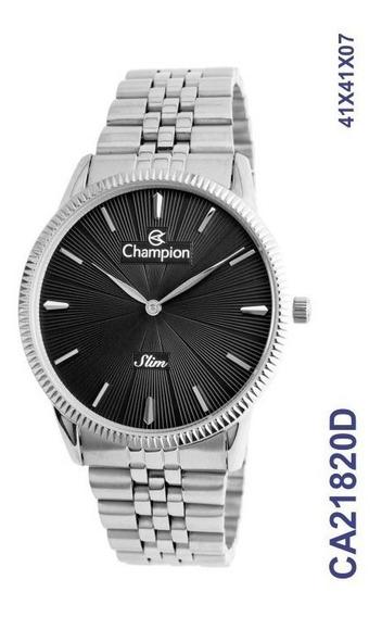 Relógio Champion Masculino Analógico Prateado Ca21820d
