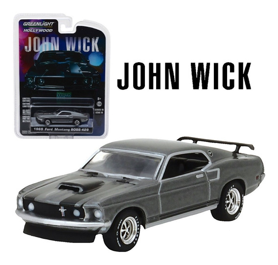 Greenlight John Wick 1969 Mustang Boss 429 Mide 7,5 Cm. 1:64