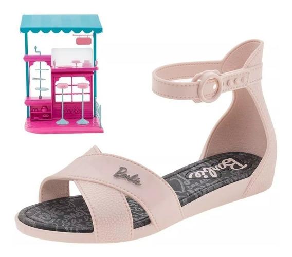 Sandália Infantil Baby Barbie Brilha Slide Plastic Lovers