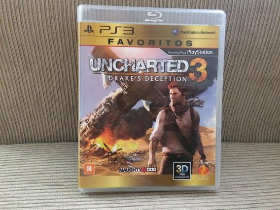 Uncharted 3 -ps3 - Mídia Física