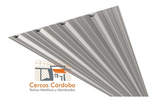 Chapa Techo Acanalada Trapezoidal Cincalum C25 X M2