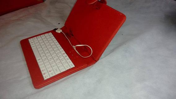 Case Tablet 7 Com Teclado E Caneta Preto Ou Vermelho
