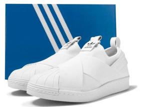 Tênis adidas Superstar Slip On Feminino Elastico Envio Rapid