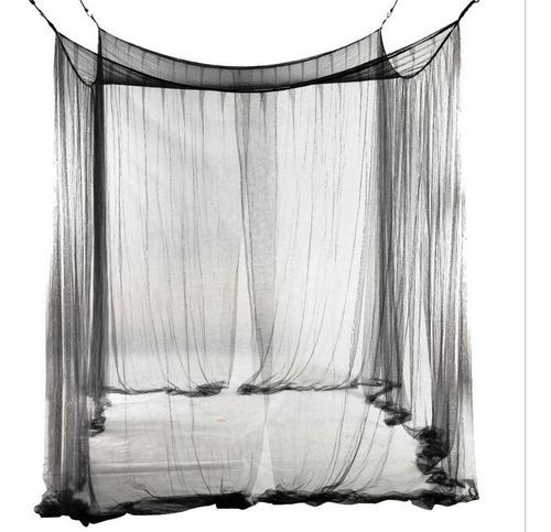 4 Post Bed Canopy Quatro Canto Mosquito Rede Preta