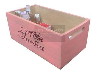 Cajas Cajones Color Blanco, Rosa, Negro Decapados Vintage