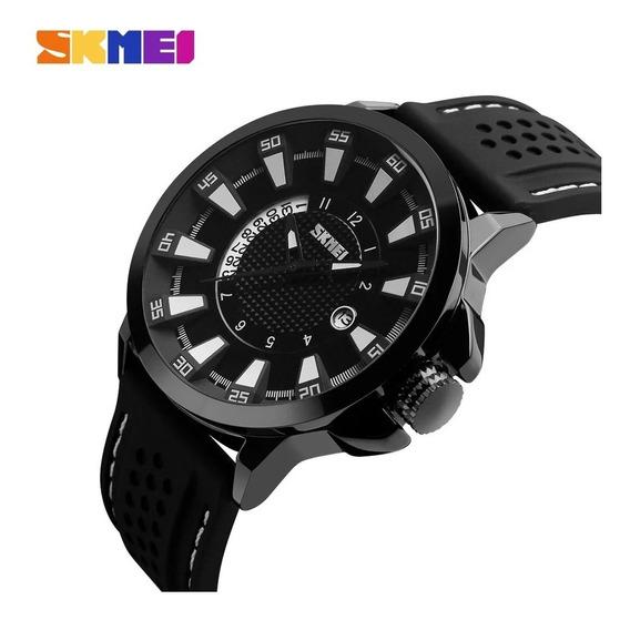 Relógio Skmei 9152 Metal Inoxidável Na Caixa De Lata Com Nf