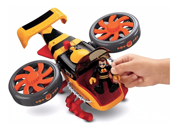 Fisher Price,serie Imaginext, Helicoptero Abejorro.
