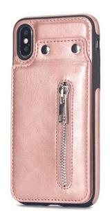 Case iPhone X 8 7 6 Plus - Estojo De Couro Slots De Cartão