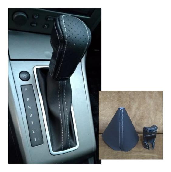 Capa Cambio Couro+coifa Corvin Vectra Automático Sem Suporte