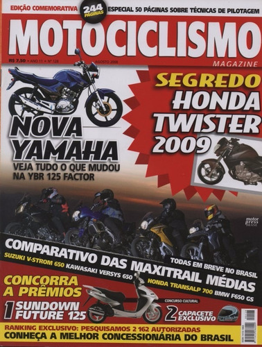 Motociclismo N°128 Yamaha Ybr 125 Factor V-strom 650 Versys