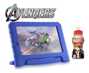 Tablet iPad Infantil Azul Vingadores Android 7.0 + Squeeze