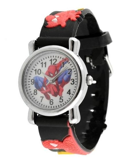 2 Relógios De Pulso Infantil Super Herói Homem Aranha
