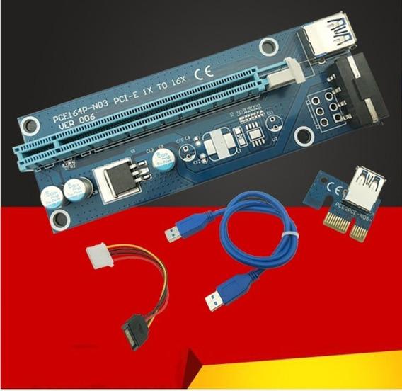 Cabo Riser Pci-e Card V007 E V006d Usb 3.0 Pci-e Kit 11 Un
