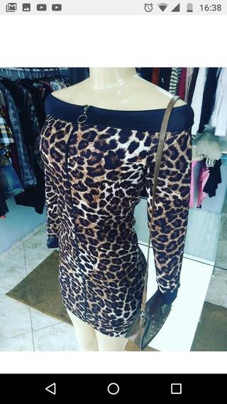 Vestido Oncinha Animal Print