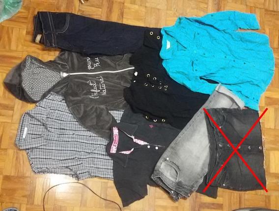 Lote 7 Peças Roupas M/g Calça Jeans Camisa Moletom Plush Dud