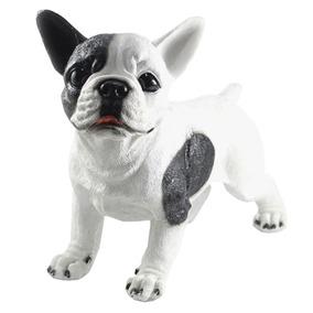 Cachorro Bulldog Frances Filhote Realista Jardim Decoração