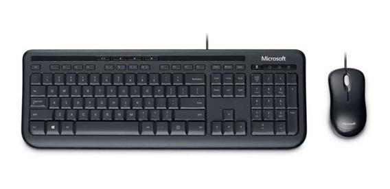 Teclado E Mouse Com Fio Microsoft Wired 600 Multimidia Preto