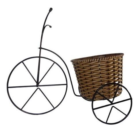 Bicicleta Floreira Junco Decoração Enfeite Porta Vaso