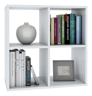 Organizador Cubo 4 Espacios Melamina - Muebles Y Cosas